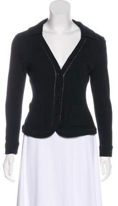Plein Sud Jeans Wool-Blend Long Sleeve Top