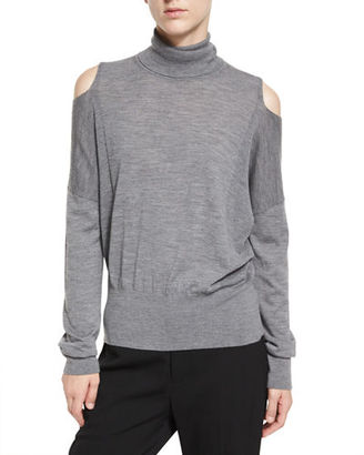 Vince Cold-Shoulder Turtleneck Sweater $265 thestylecure.com
