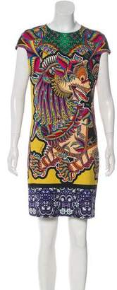 Just Cavalli Short Sleeve Graphic Dress