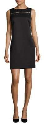 Ellen Tracy Beaded Sheath Dress