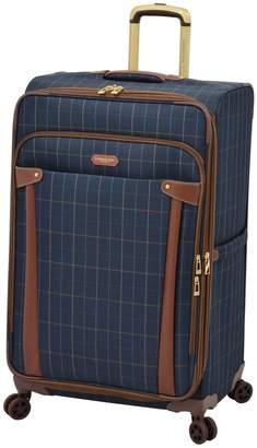 """London Fog Newbury Windowpane 25"""" Expandable Spinner Suitcase"""