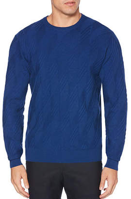 Perry Ellis Textured Crewneck Sweatshirt
