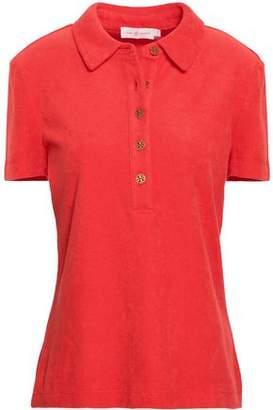 Tory Burch Button-detailed Cotton-terry Polo Shirt