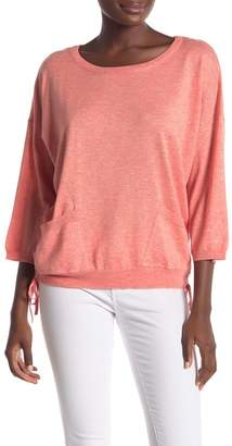 Democracy Ruched Side Dolman Sleeve Knit Shirt