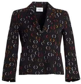 Akris Punto Jacquard Circle Split-Sleeve Jacket