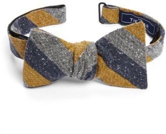 Men's The Tie Bar Varios Stripe Silk Bow Tie $19 thestylecure.com