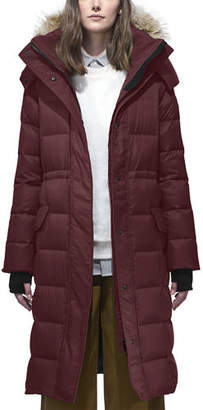 Canada Goose Lunenberg Long Quilted Parka w/ Detachable Fur Hood