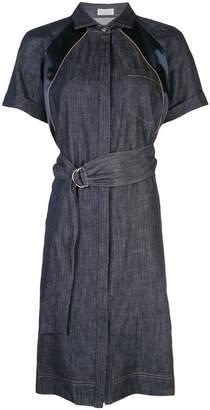 Brunello Cucinelli belted shirt dress