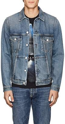 Givenchy Men's Logo-Embroidered Denim Jacket