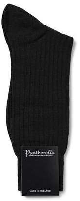 Pantherella Laburnum Merino Wool Socks in Black