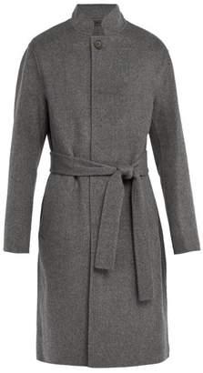 Acne Studios Belted Wool Blend Coat - Mens - Grey