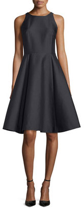 Kate Spade New York Double-Bow Back Sateen Dress, Black $448 thestylecure.com