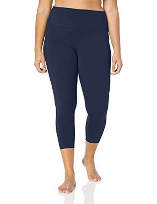 Core 10 Amazon Brand Women's Plus Size Nearly Naked Yoga High Waist 7/8 Crop Legging-24""