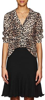 Barneys New York Women's Leopard-Print Silk Blouse