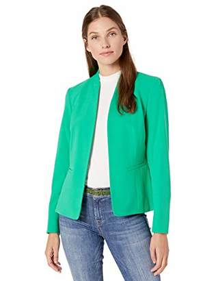 Nine West Women's Plus Size Stand Collar Kissing Front Jacket