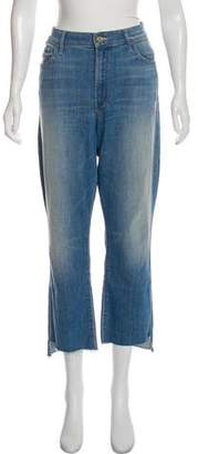 Mother High-Rise Straight Jeans