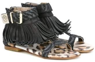 Roberto Cavalli Junior fringed sandals