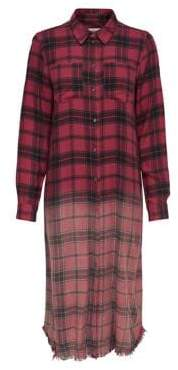 Only Roni Plaid Ombre Shirtdress