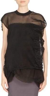 Rick Owens Short-Sleeve Crinkle Pullover