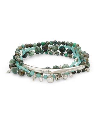 Kendra Scott Supak Beaded Bracelet Set in Silver