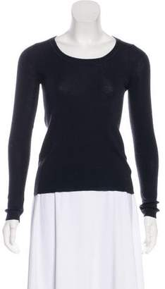 Prada Cashmere Scoop Neck Top