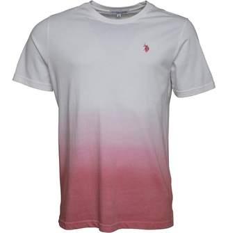 U.S. Polo Assn. Mens Kneece T-Shirt Bright White/Sea Pink