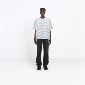Balenciaga Cotton T-shirt with all over 'T-Shirt' print