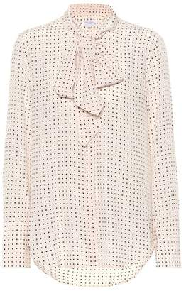 Equipment Polka-dot silk blouse