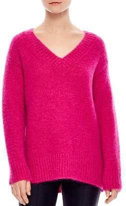 Sandro Carolina Oversized V-Neck Sweater