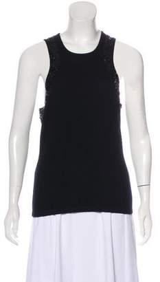 Michael Kors Cashmere Embellished Top