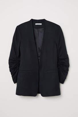 H&M Linen-blend Jacket - Black - Women