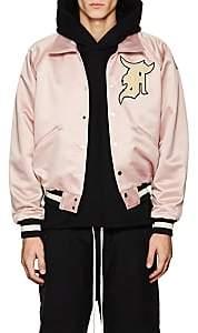 Fear Of God Men's Logo Tech-Satin Coach's Jacket-Pink