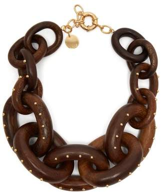 Vanda Jacintho - Chunky Chain Link Necklace - Womens - Brown