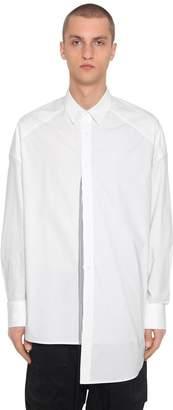 Juun.J Oversize Patchwork Cotton Poplin Shirt