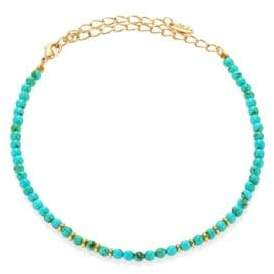 Ettika Still Surprise You Dyed Turquoise Beaded Choker Necklace