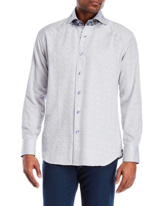 Bogosse Peter Grey Printed Sport Shirt