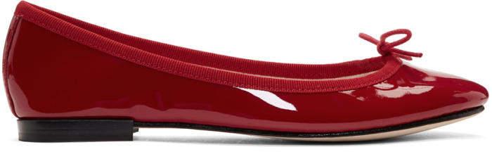 Repetto Red Patent Cendrillon Ballerina Flats