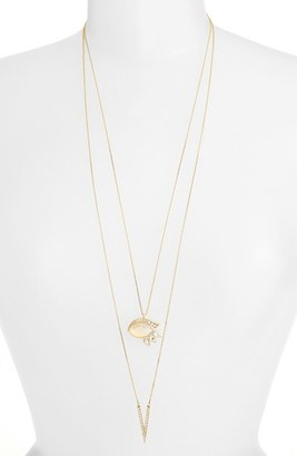 Women's Jules Smith Layered Pave Necklace $125 thestylecure.com