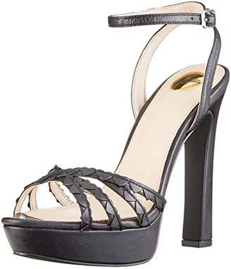 54f7c7314 ... Buffalo David Bitton Women's Marzipan Metalic Leather Open Toe Sandals,  (Black 01 ...