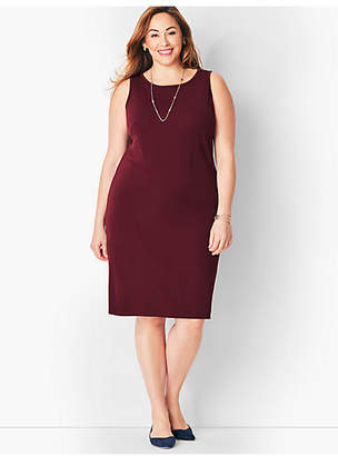 Talbots Plus Size Matte Jersey Shift Dress
