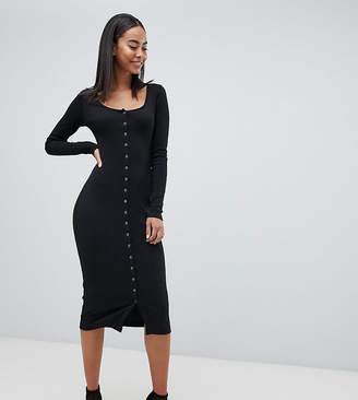 Missguided Tall Button Down Midi Dress