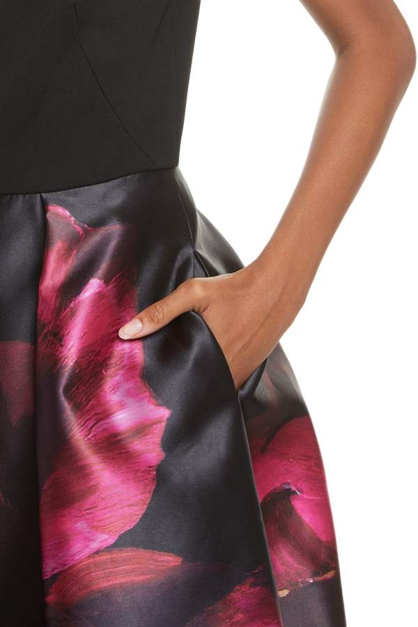 Ted Baker Kimey Impressionist Fit & Flare Dress