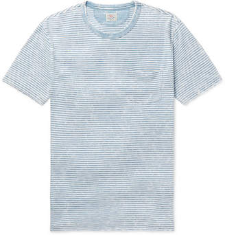 Faherty Striped Slub Cotton-Jersey T-Shirt - Men - Blue
