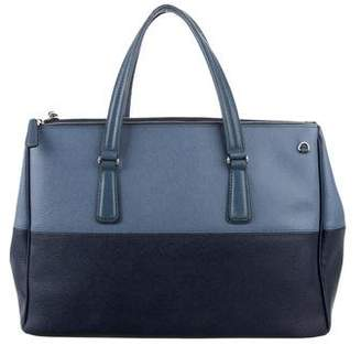 Tumi Bicolor Leather Satchel
