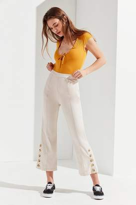 Urban Outfitters Sandra Side-Button Cropped Flare Pant