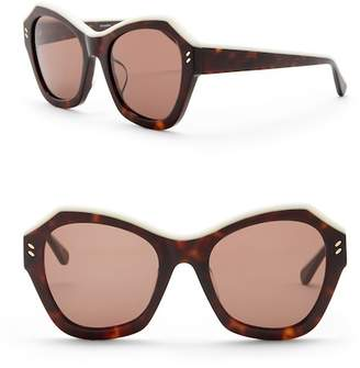 Stella McCartney 53mm Geo Cat Eye Sunglasses