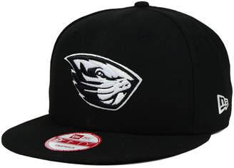 c5457ada821 New Era Oregon State Beavers Black White 9FIFTY Snapback Cap