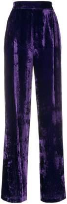 Cavallini Erika velvet high waisted trousers