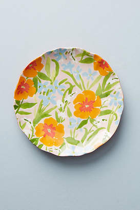 Leah Goren Painted Poppies Side Plate