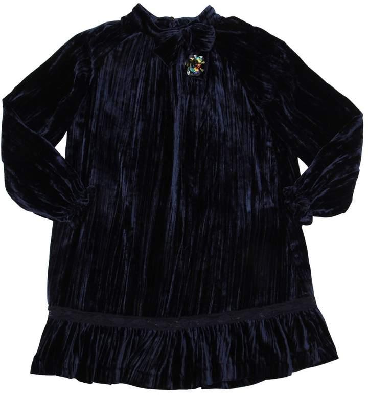 Velvet Party Dress W/ Bow